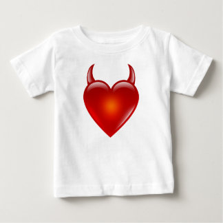 Naughty Devil Heart with Horns Baby T-Shirt