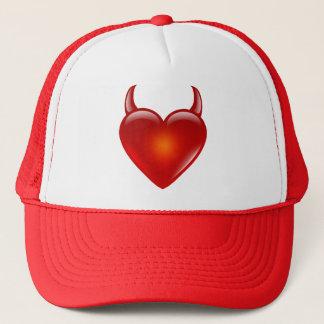 Naughty Devil Heart with Horns Trucker Hat
