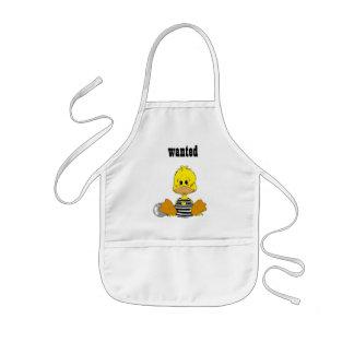 Naughty duck kids apron