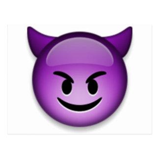 Naughty Emoji face Postcard