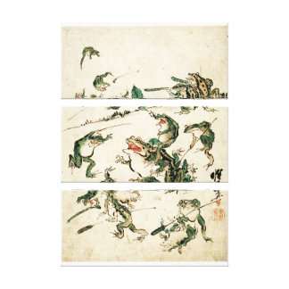 Naughty Frogs Canvas Print