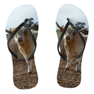 Naughty Highland Cow, Flip Flops