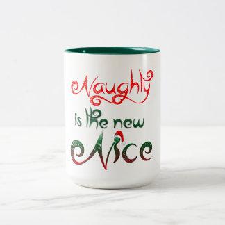 naughty is the new nice funny coffee mug design