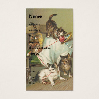 Naughty Kittens Business Card