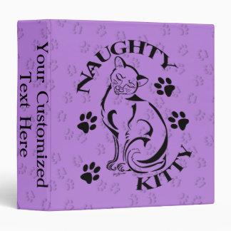 """Naughty Kitty 1.5"""" Binder"""