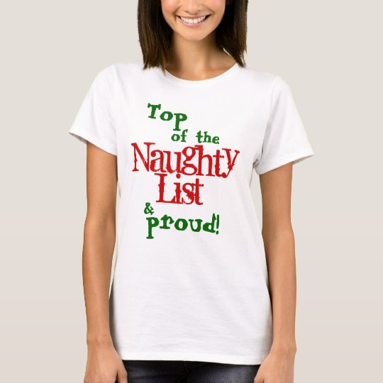 Naughty List, Adult T-Shirt