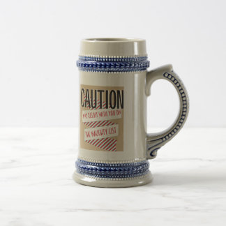 Naughty list beer stein