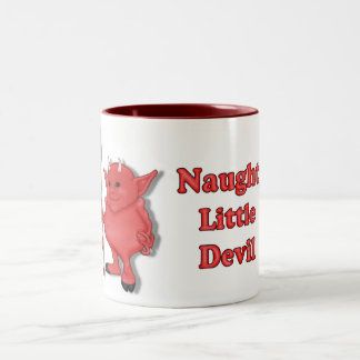 Naughty Little Devil Two-Tone Coffee Mug