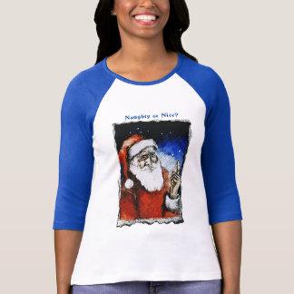 Naughty & Nice - Blue & White T-shirt