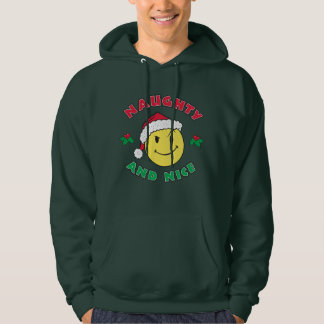 Naughty & Nice Happy Face Hoodie