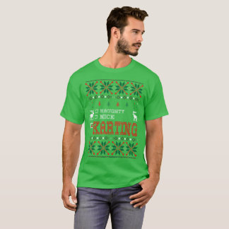 Naughty Nice Karting Christmas Ugly Sweater Tshirt