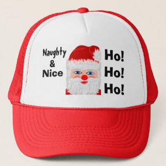 Naughty Nice Santa Festive Hat