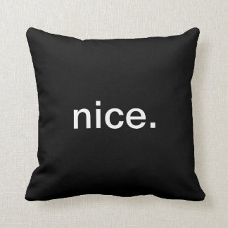 Naughty Nice Throw Pillow