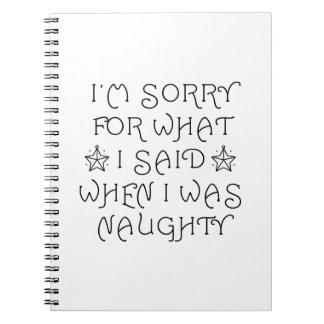 Naughty Notebooks