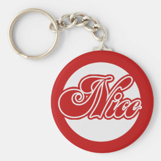 Naughty or Nice Christmas Keychain
