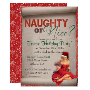 Naughty Or Nice Christmas Invitations Announcements Zazzle Ca