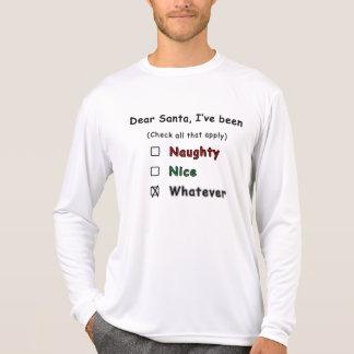 Naughty or Nice Christmas Shirt - check the boxes