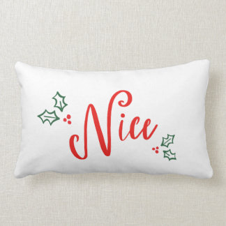 NAUGHTY OR NICE LUMBAR PILLOW