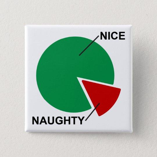 Christmas Naughty Or Nice Chart.Naughty Or Nice Pie Chart Funny Christmas Button