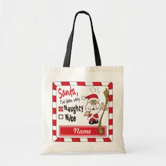 Naughty or Nice Santa Gift Bag   DIY Name