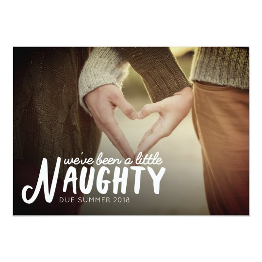 Naughty Pregnancy Announcement Christmas Card