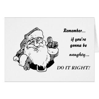 Naughty Santa Card 01