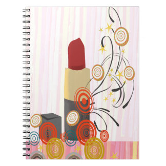 Naughty Shine Lipstick Cosmetologist Makeup Artist Notebooks