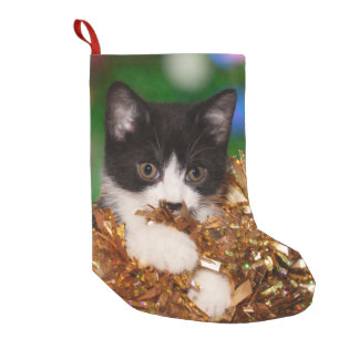 Naughty tuxedo kitty Christmas Small Christmas Stocking