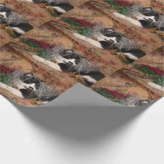 Naughty tuxedo kitty Christmas Wrapping Paper