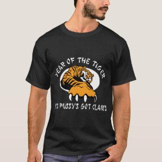 Naughty Women's Year of The Tiger 2010 Dark T-Shirt