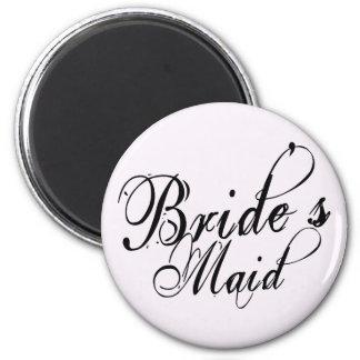 Naughy Grunge Script - Bride's Maid Black Refrigerator Magnet