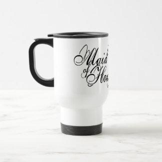 Naughy Grunge Script - Maid Of Honor Black 15 Oz Stainless Steel Travel Mug
