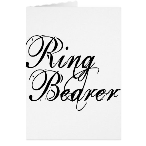 Naughy Grunge Script - Ring Bearer Black Cards