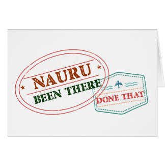 Nauru Been There Done That Card