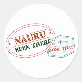 Nauru Been There Done That Classic Round Sticker