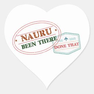 Nauru Been There Done That Heart Sticker
