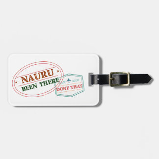 Nauru Been There Done That Luggage Tag