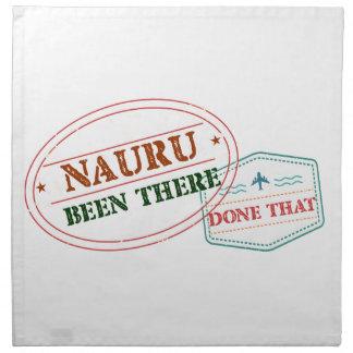 Nauru Been There Done That Napkin