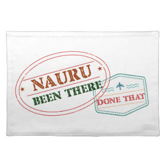 Nauru Been There Done That Placemat