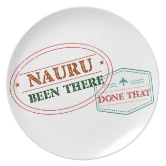 Nauru Been There Done That Plate