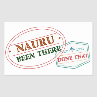 Nauru Been There Done That Sticker