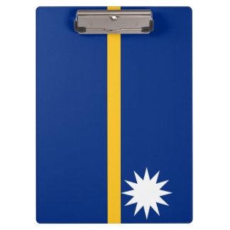 Nauru Flag Clipboard