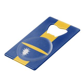 Nauru Flag Credit Card Bottle Opener