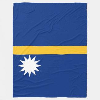 Nauru Flag Fleece Blanket