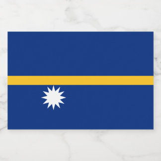 Nauru Flag Food Label