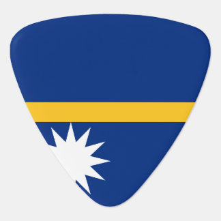 Nauru Flag Guitar Pick