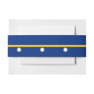 Nauru Flag Invitation Belly Band