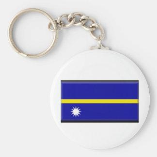 Nauru Flag Key Chain