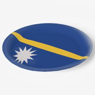 Nauru Flag Paper Plate