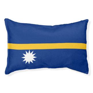 Nauru Flag Pet Bed